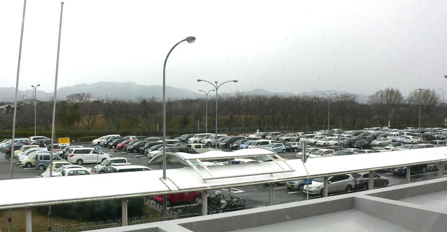 【空港情報】 週末(2015.2.8)の駐車場の状況です。