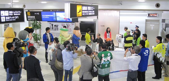 香港チャーター便が米子鬼太郎空港に到着しました!