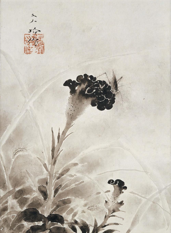 榊原紫峰「鶏頭花」-2