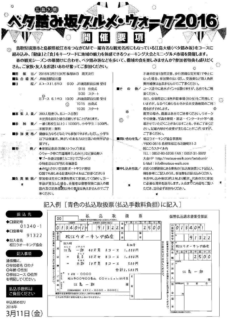 ベタ踏み坂グルメ・ウォーク2016