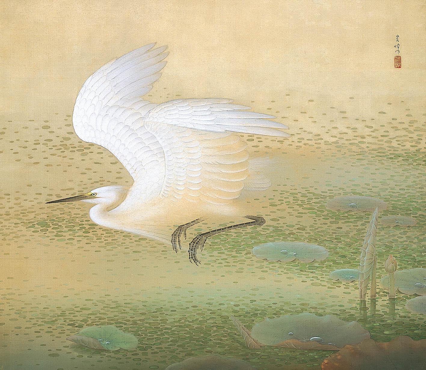 榊原紫峰「白鷺図」