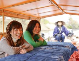 松江堀川遊覧船 『こたつ船』運航開始‼