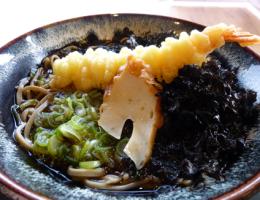 海老天蕎麦(温)980円