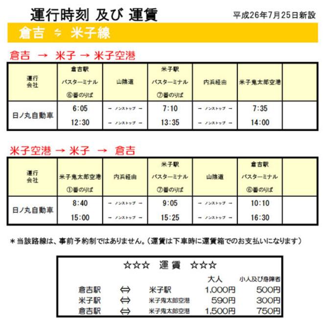 表 鳥取 空港 時刻 東京/羽田空港 →