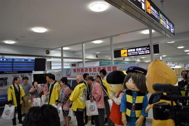 米子ー香港便 就航1周年記念セレモニーが行われました!