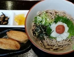 梅おろし蕎麦定食(冷) 900円