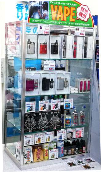 セブン-イレブン米子鬼太郎空港店では、電子タバコ専門店「VAPE JAPAN」のご協力により、電子タバコ(VAPE)の取り扱いを開始しました。
