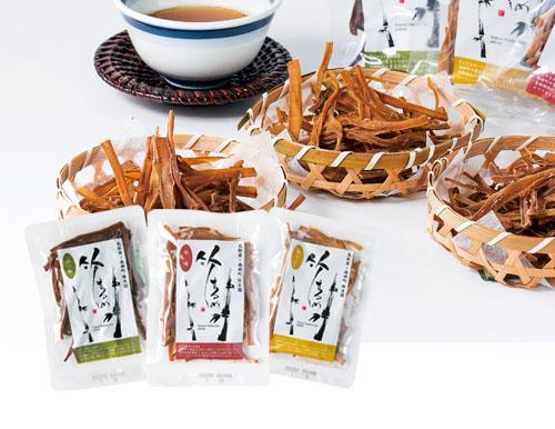 地元産のタケノコを使用した『竹するめ』!